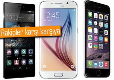 Kar��la�t�rma: Huawei P8, Galaxy S6 ve iPhone 6