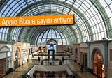 D�nyan�n en b�y�k Apple Store'u Dubai'de