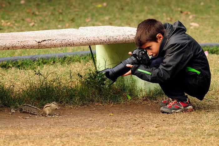 9 ya��ndaki �ocuk y�l�n gen� vah�i ya�am foto�raf��s� oldu