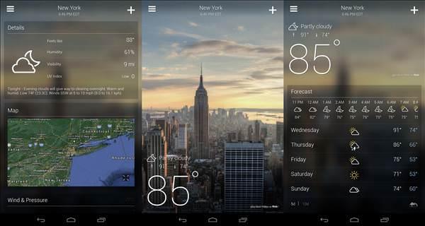 Android'in en iyi hava durumu uygulamalar�