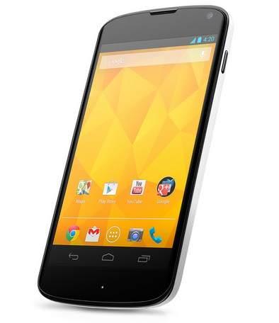 Beyaz Nexus 4 resmiyet kazand�