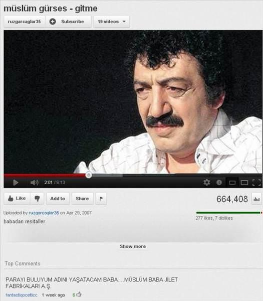 Bu Youtube yorumlar� �ok g�ld�r�yor