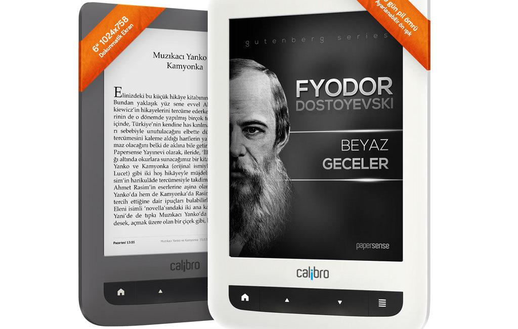 E-kitap okuyucusu Calibro, 2 modelle sat��ta