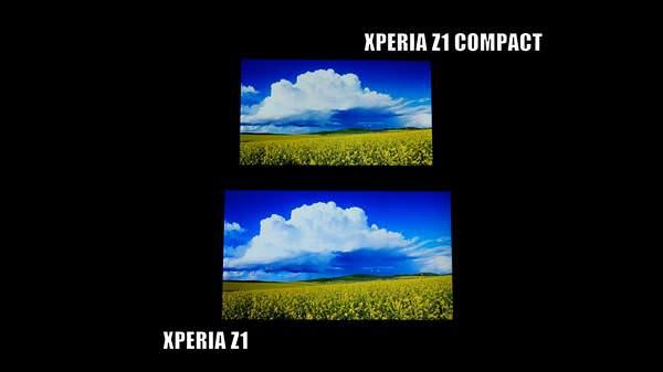Ekran kar��la�t�rmas�: Xperia Z1 vs Xperia Z1 Compact