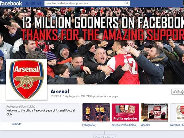 Facebook�ta en �ok hayran� olan futbol kul�pleri