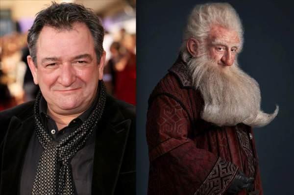 Hobbit karakterleri makyajs�z b�yle g�z�k�yor