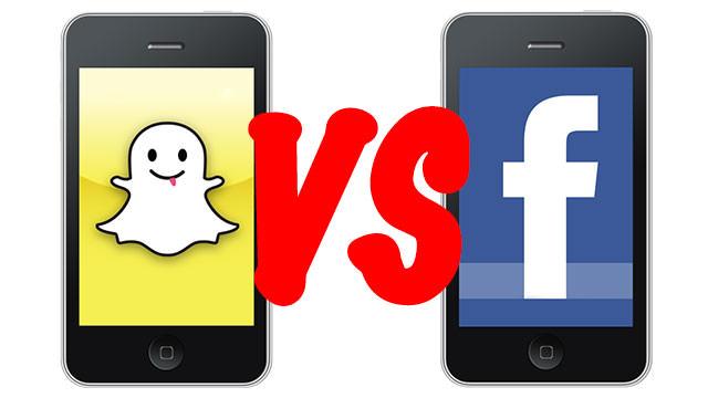 �nfografiklerle Facebook ile Snapchat kar��la�t�rmas�