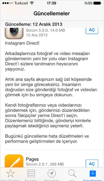 Instagram'a direct mesaj �zelli�i geldi