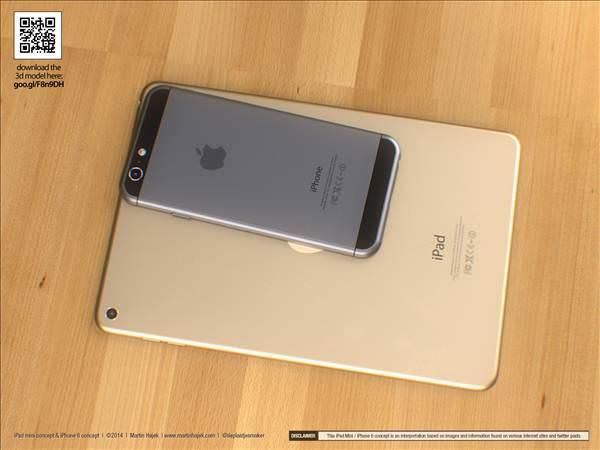 iPhone 6 ve iPad mini 3 i�in etkileyici konsept �al��mas�