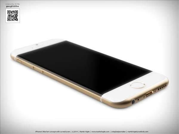 Kavisli iPhone 6�n�n konsept tasar�mlar�