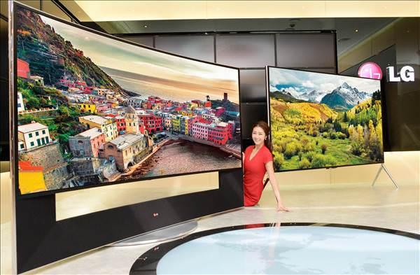 LG'nin 105 in�lik dev 4K televizyonu