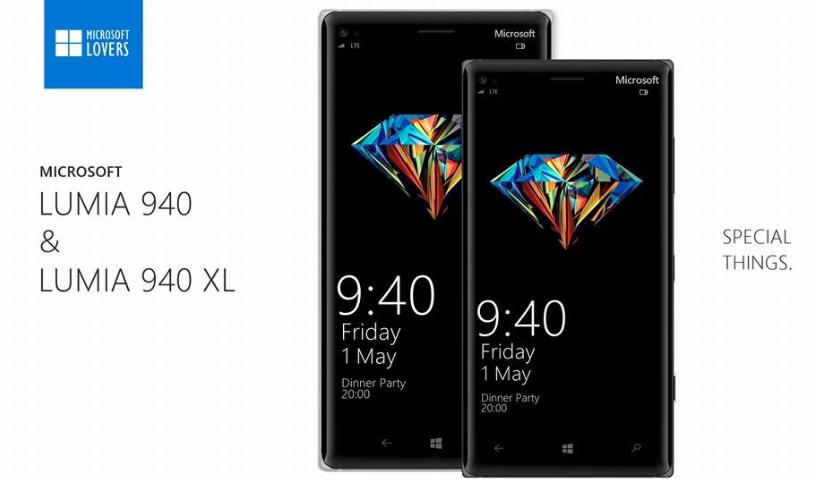 Microsoft Lumia 940 ve Lumia 940 XL b�yle mi olacak?