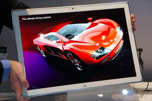 Panasonic'in 20 in�lik WP8 tablet prototipi CES 2013'te