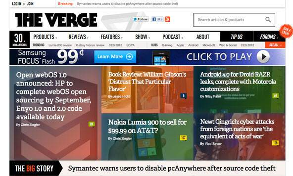 Windows 8�den ilham alan 10 web sitesi