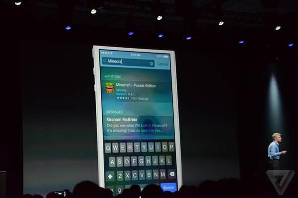 WWDC 2014: iOS 8'den g�r�nt�ler