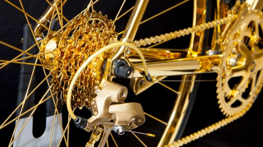 24 karat alt�ndan bisiklet yapt�lar