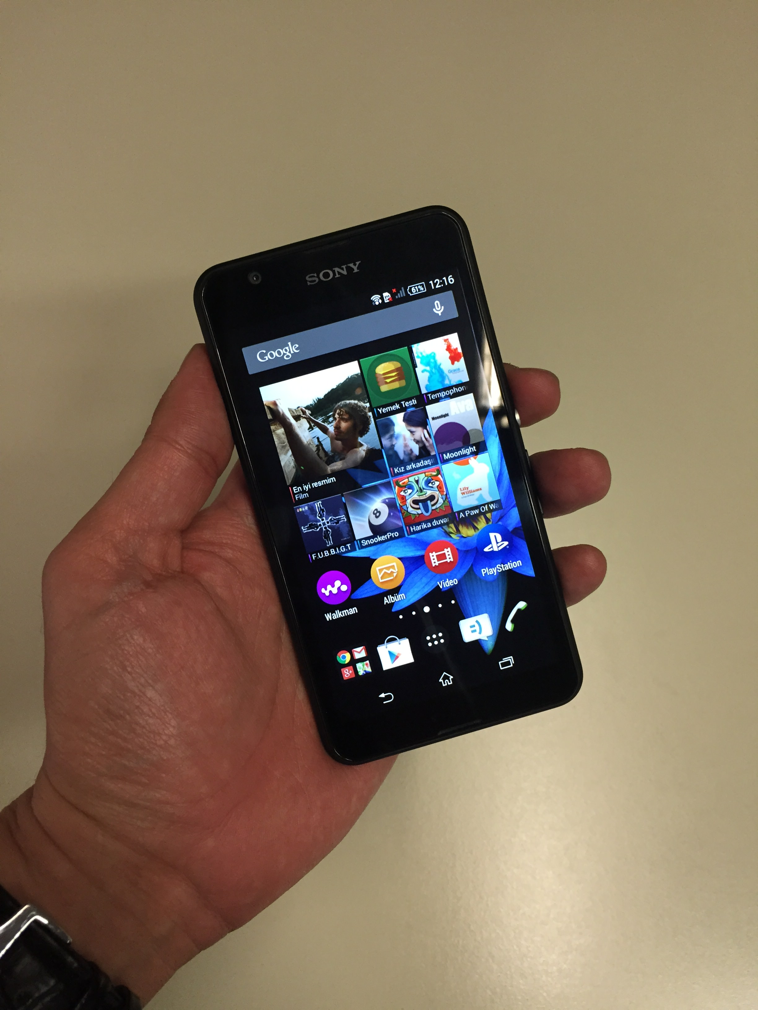 Sony Xperia E4g'nin foto�raflar�