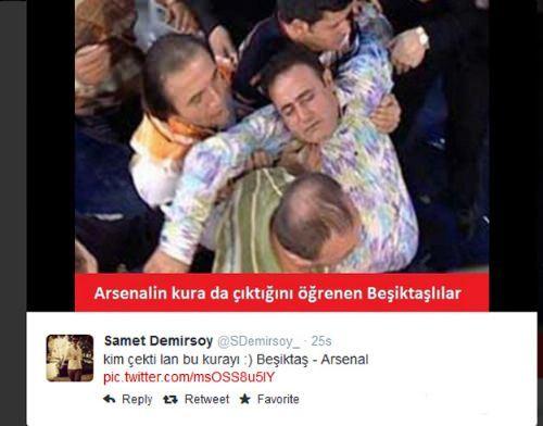 Be�ikta�'a Arsenal ��kt�, sosyal medya y�k�ld�