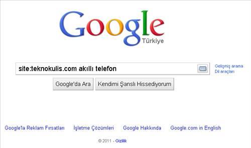 Google arama ipu�lar�