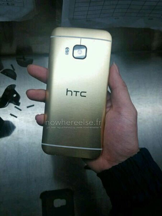 Alt�n renkli HTC One M9'un foto�raflar� s�zd�