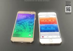 Galaxy Alpha ve iPhone 6 kar��la�t�rmas�