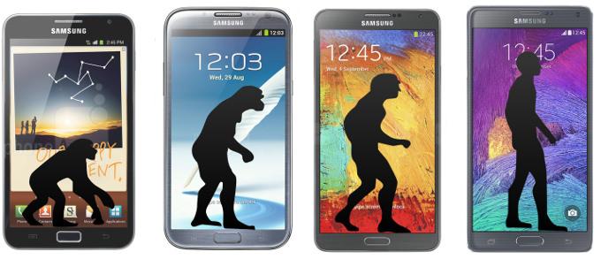 Galaxy Note serisinin evrimi
