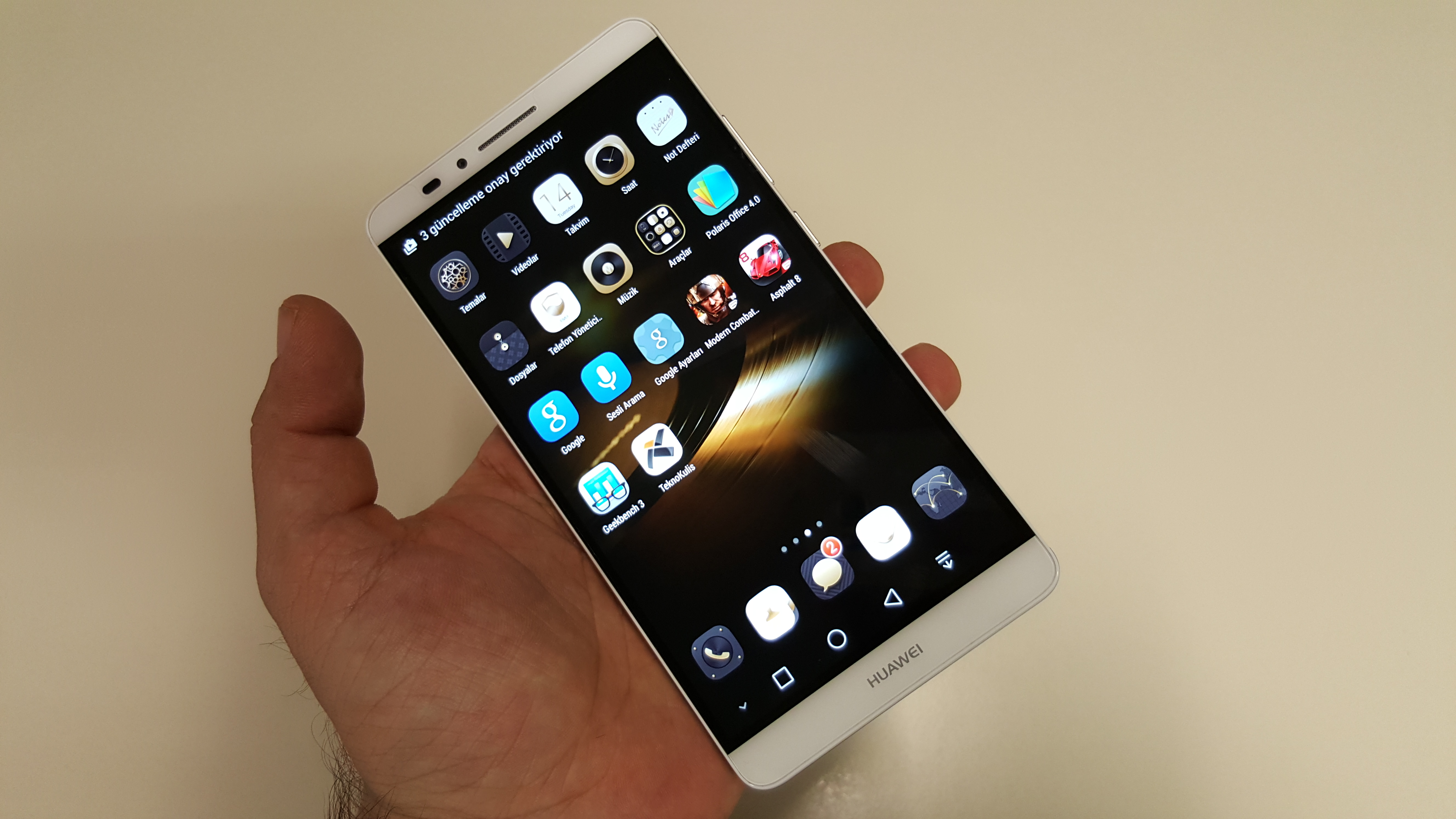 Huawei Ascend Mate 7'nin foto�raflar�