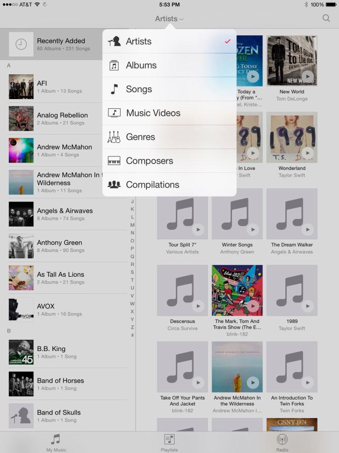 iOS 8.4 ile yenilenmi� m�zik uygulamas�n�n detayl� g�r�nt�leri
