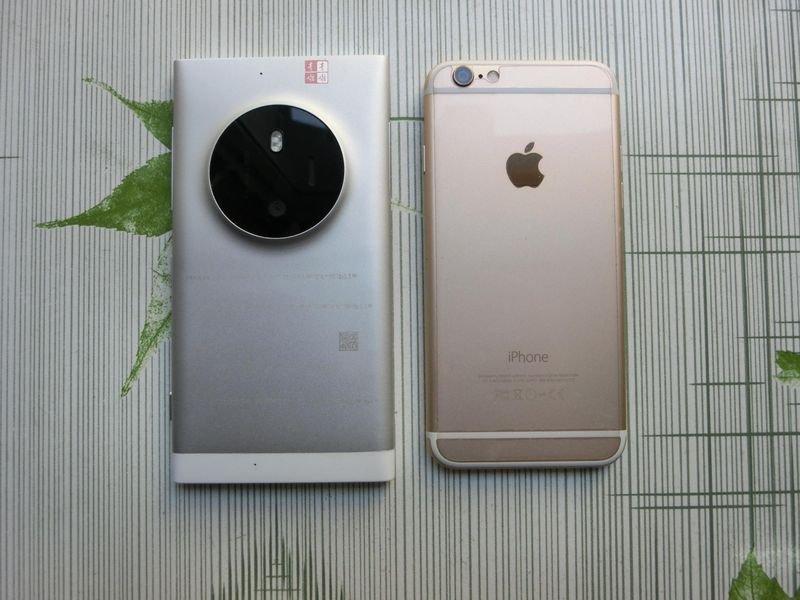 Lumia 1030'un prototipi iPhone 6 ile yan yana g�r�nt�lendi