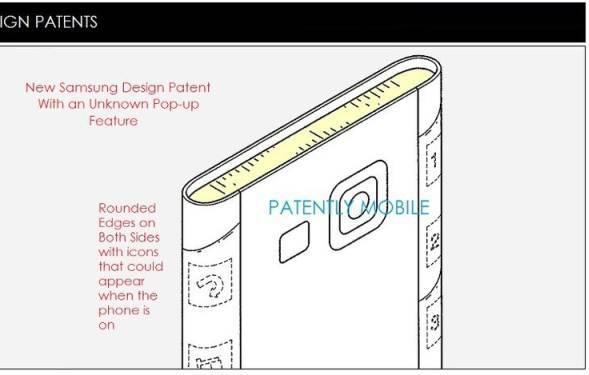 Samsung'un �ift taraf� kavisli ekran patenti
