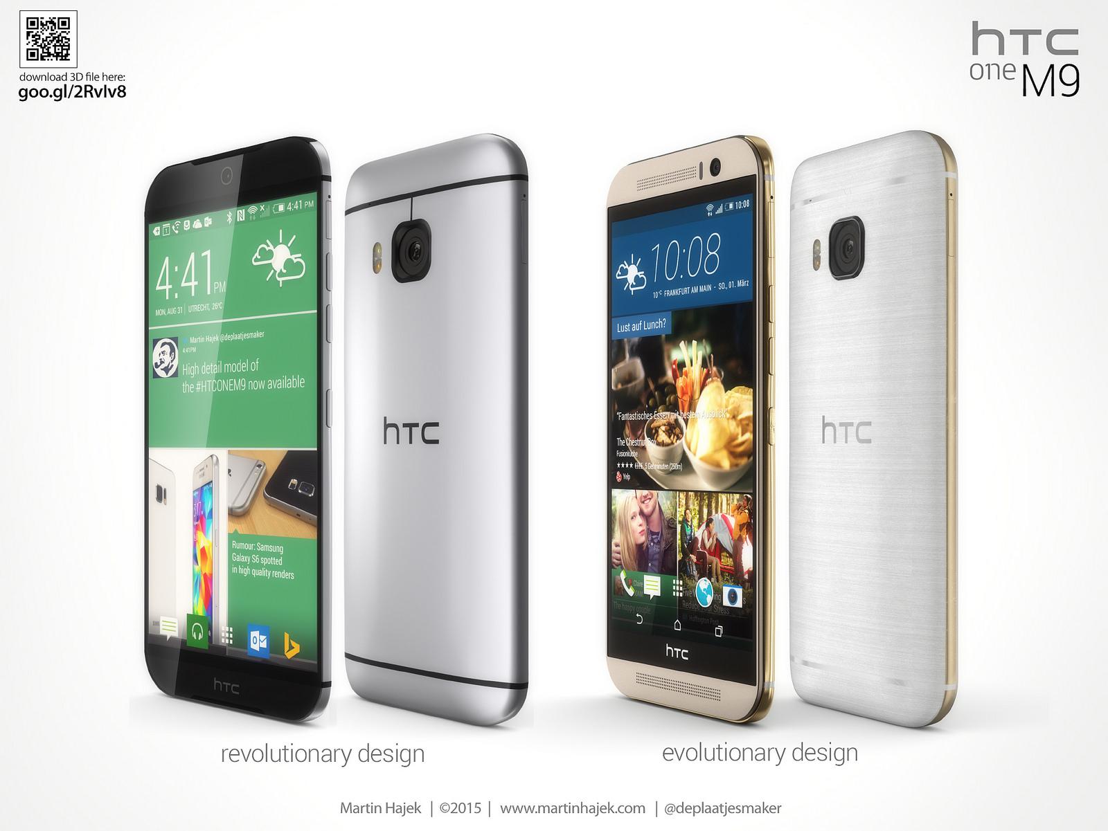 S�zan HTC One M9 render'lar� kar�� kar��ya geldi
