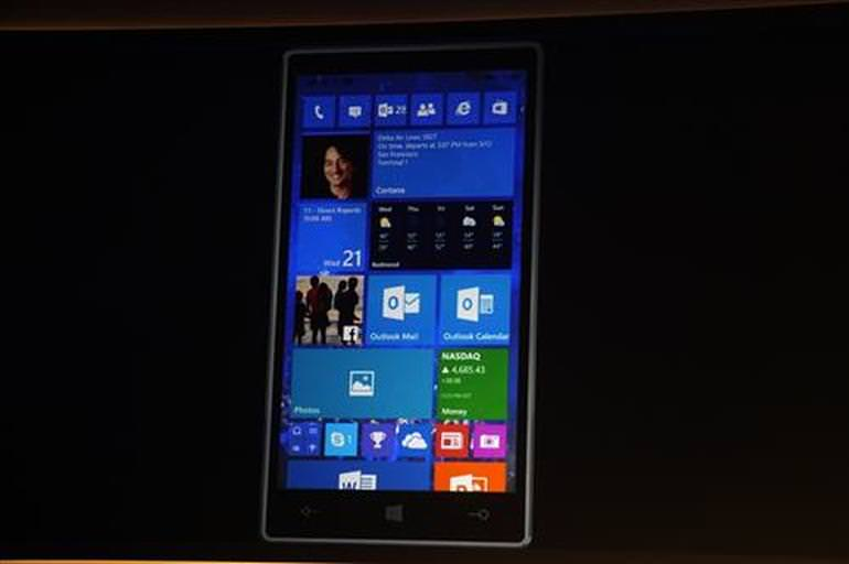 Telefonlar i�in Windows 10'dan daha fazla g�r�nt� geldi
