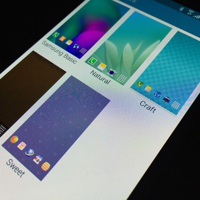 Tema destekli TouchWiz'den yeni g�r�nt�ler geldi