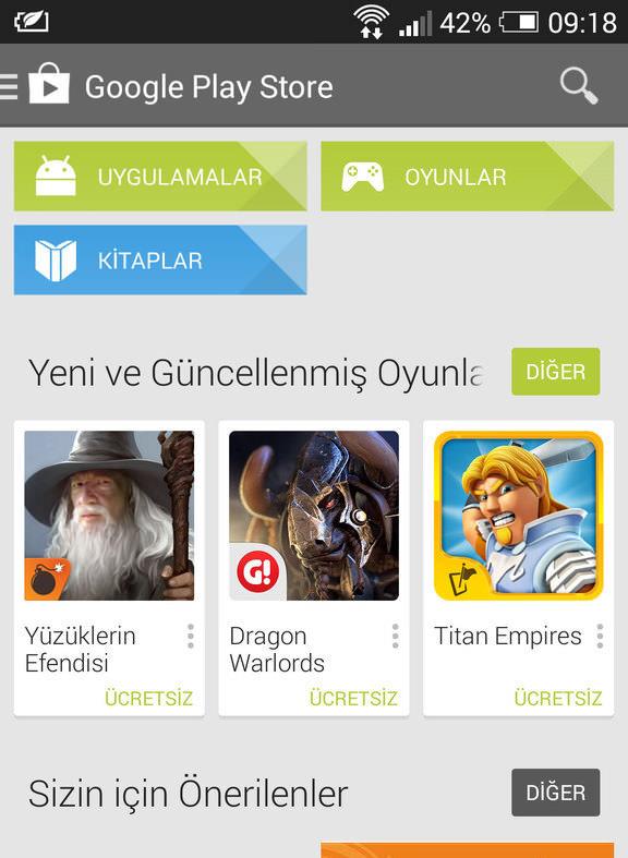 Google Play Store'da uygulama listesinden uygulama silmek