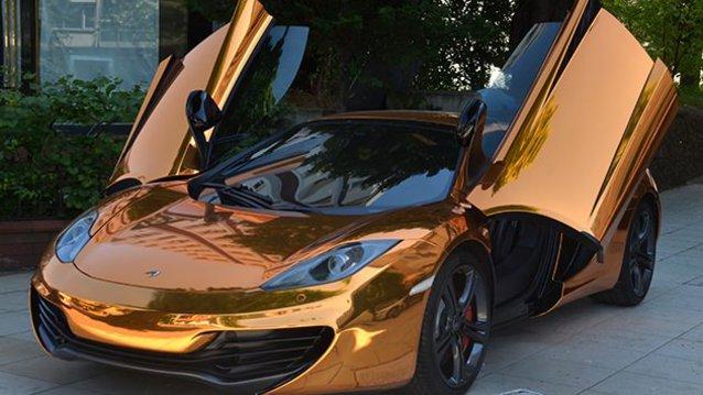 1 Milyon 650 bin TL�lik alt�n kapl� McLaren ile tan���n
