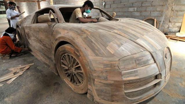 Bu da marangozdan ��kma Bugatti Veyron