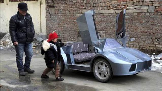 Torunu i�in Lamborghini yapt�