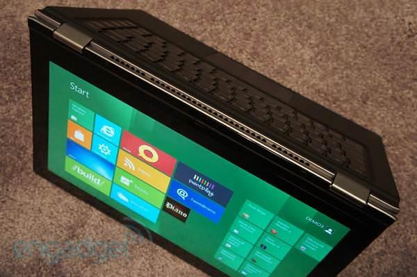 Windows 8 li 360 derece dönebilen dokunmatik ekranlı dizüstü