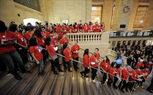 D�nyan�n en b�y�k Apple ma�azas�: Grand Central