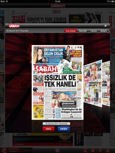 eSABAH iPad / iPhone Uygulamas�