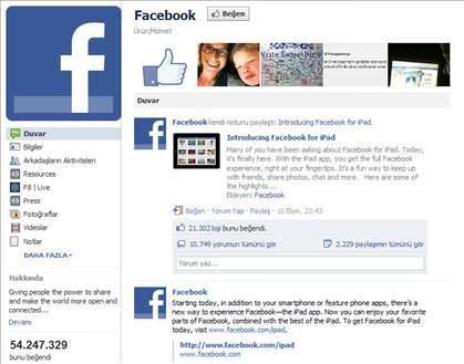 Facebook'tan en �ok be�enilen 25 sayfa