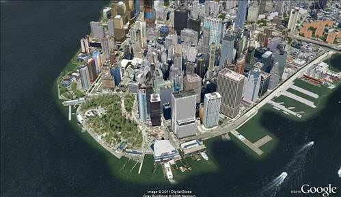 Ovi Maps 3D vs Google Earth 3D