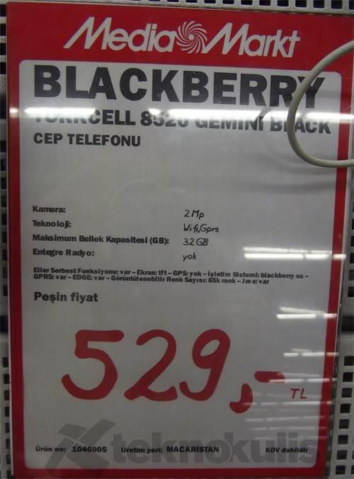 Blackberry gemini 8520 fiyatları