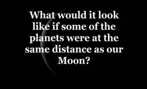 Gezegenler Ay'la ayn� mesafede olsayd� D�nya'dan nas�l g�r�n�rd�?