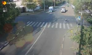 Bisikletlinin mucizevi kurtulu�u kameralara yans�d�