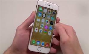 Bu da alt�n kaplamal� iPhone 6'n�n testi