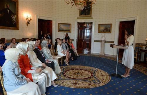 Emine Erdoğan da Michelle Obama'nın konuğuydu