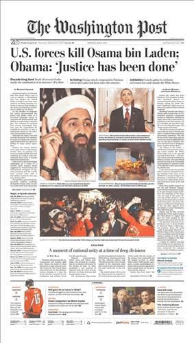 Usame Bin Ladin'in ölümü manşetlerde!