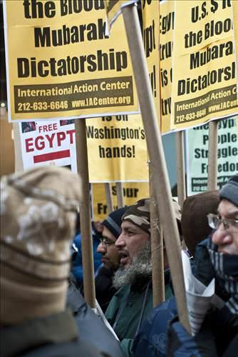 Times Meydanında Tahrir'e destek