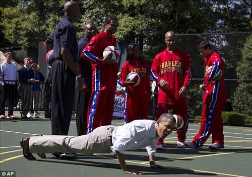 Obama'dan şınav şovu